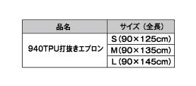 940 TPU打抜きエプロン